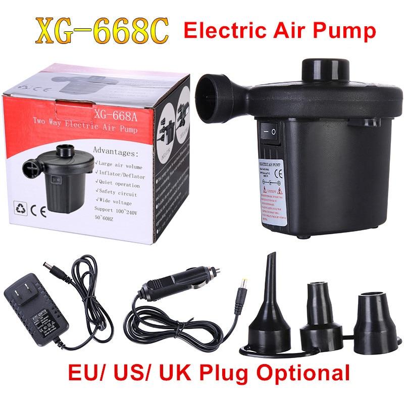 12V Inflatable Pump Electric Air Mattress Camping Pump Air Compressor Portable Inflator Air Pump For Home Boat EU US UK Plug