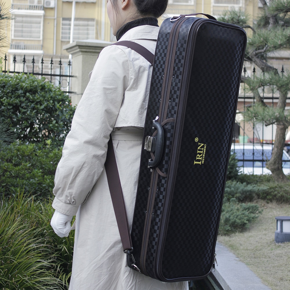 IRIN 4/4 Violin Storage Case Box Black Portable Canvas Gig Bag Violin Fiddle Accessories High Quality Musical Instrument Bag enlarge