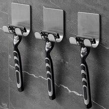 1PC Stainless Steel Razor Holder Wall Men Shaving Shaver Shelf Storage Hook Shaving Razor Storage Ra