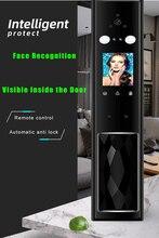 Keyless Smart Palmprint Gezicht Gezichtsherkenning Deurslot Camera Monitor Elektrisch Slot Voor Home Security Met Smart Cat Eye