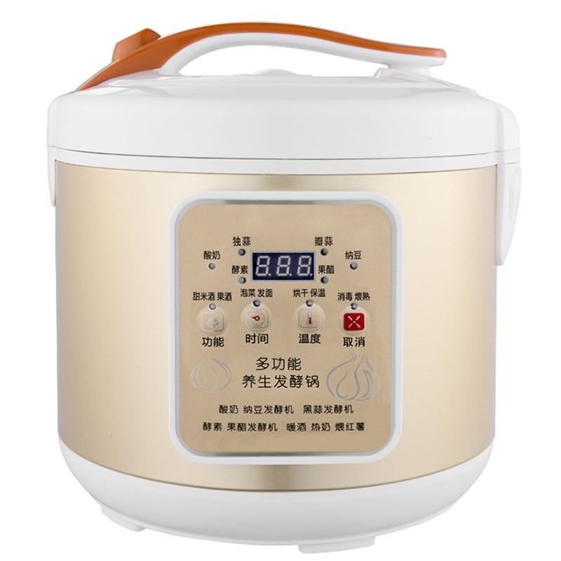 5L الزبادي آلة المنزل الصغيرة التلقائي نبيذ الأرز الحلو ناتو محلية الصنع الثوم الأسود آلة التخمير متعددة الوظائف الزبادي