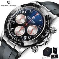 2021 New PAGANI DESIGN Watch Men Top Brand Automatic Date Wristwatch Silica gel Waterproof 100M Daytona Chronograph Clock Gift