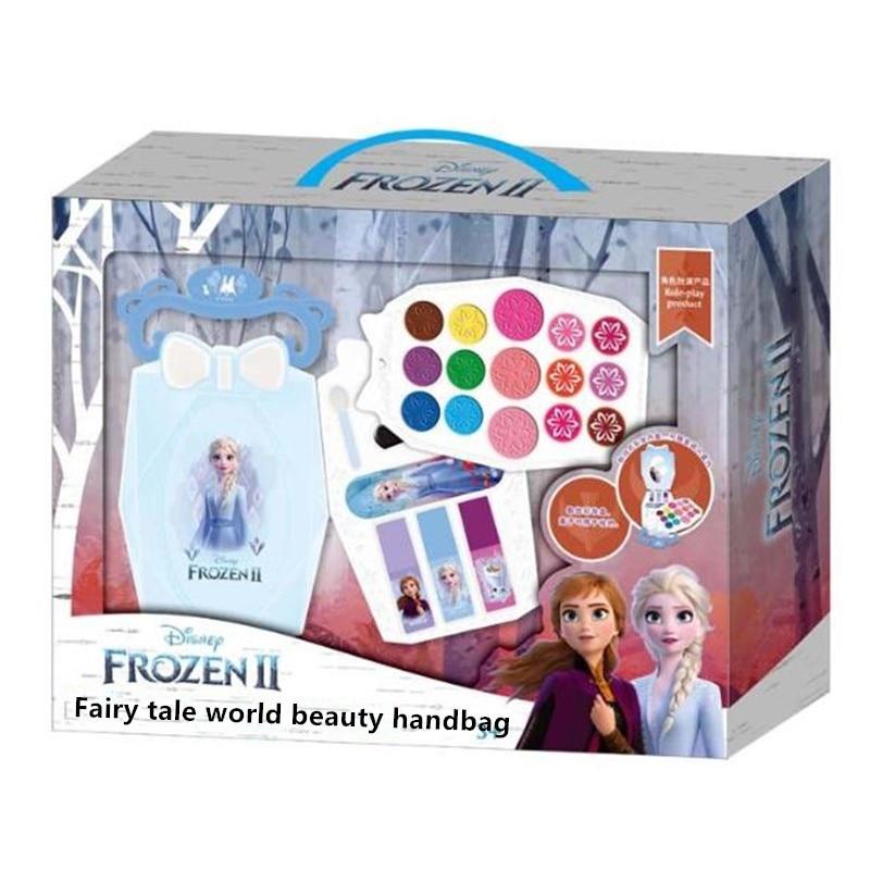 Disney Frozen 2 Makeup Portable Box Pretend Play Toy for Girl Makeup Christmas Gift