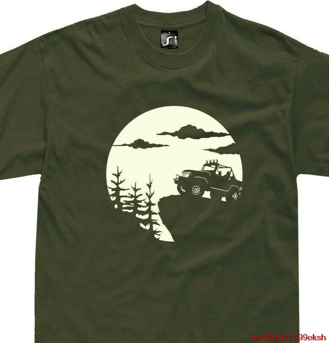 T-shirt Jeep yj tj jk 4x4 hors route t-shirt (S-5XL) mercedes