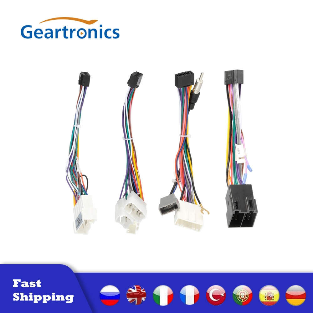 2 Din Car Android Radio Cable 16P Power Connector for Android Host Connector Transfer Tail Line Android Navigation Dedicated