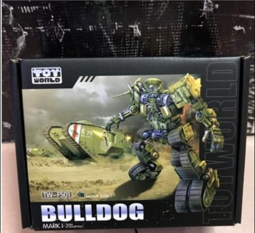 15.5cm TOY WORLD SS Proportion TW-FS01 Bulldog World War Military Tank Transformation Robot Boy Collection  Toy