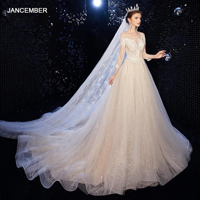 Vestidos de novia ASN032 de cuento de hadas, novedad, 2021, blanco, manga...