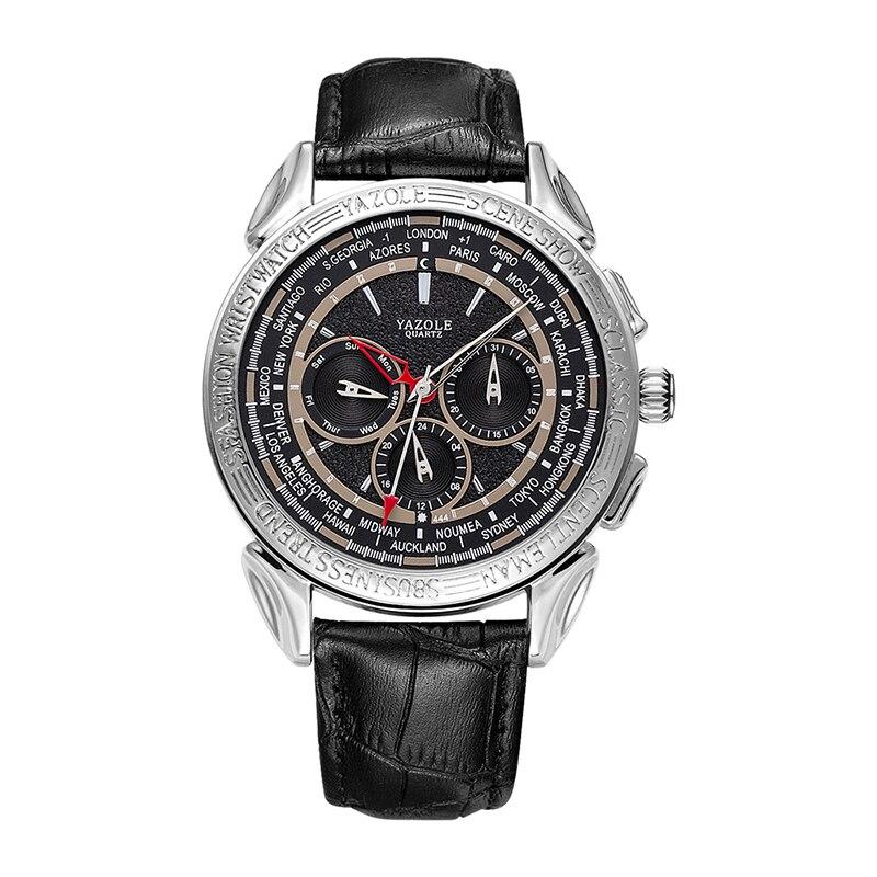 YAZOLE-ساعة رجالية رئيسية ، ساعة يد رجالية ، كوارتز ، ست إبر ، وظيفة تقويم ، أسبوع ، عرض ، 2021