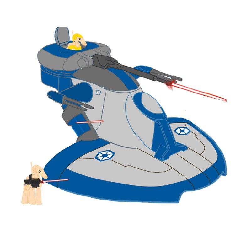Новинка 316 шт. 4 куклы литейный бронированный штурмовой танк Звездные войны фигурки строительные блоки кирпичи детские игрушки подарки