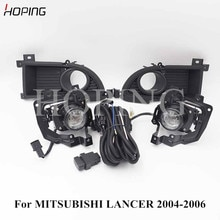 HOPING 1 Set Front Bumper Fog Light For Mitsubishi LANCER 2004 2005 2006 With Halogen Bulb Wiring Switch 12V 55W