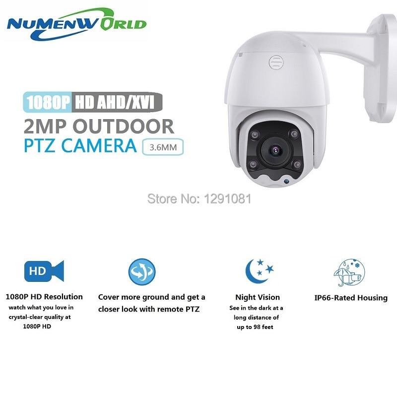 Камера Наружного видеонаблюдения HD1080p AHD, купольная камера видеонаблюдения из АБС-пластика с ночным видением 65 футов для AHD DVR, PTZ