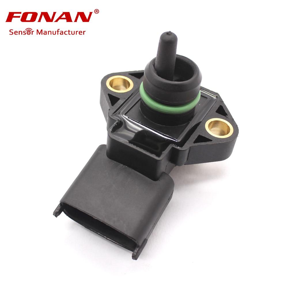 4bar mapa colector Sensor de presión absoluta para Ford F-250 3,9 4Cil 16v Diesel 06-12 0281002316 4893924 BG5X9D290AA