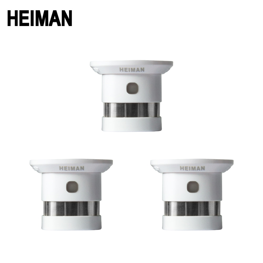 free shipping de hs high sensitivity broadband microwave coaxial rf detector 0 01 3ghz 9ghz HEIMAN independent fire alarm smoke detector 3 pcs smart home system high sensitivity safety protection sensor free shipping