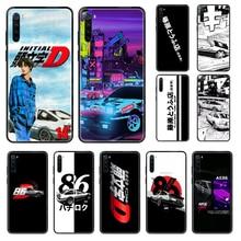 Japon JDM voiture iital D AE86 Tokyo coque de téléphone pour Xiaomi Redmi Note S2 4 5 6 7 8 A S X Plus Pro noir tendance housse de portable art coque