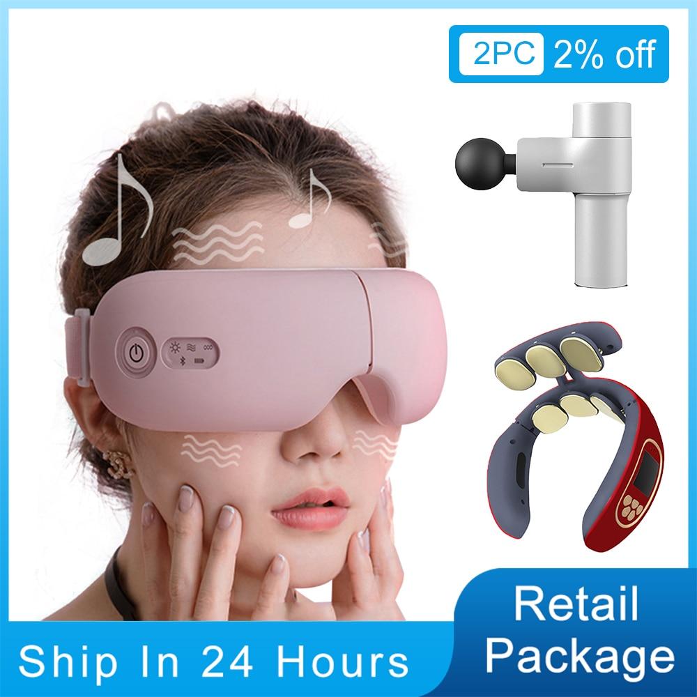 Bluetooth Smart Vibration Eye Massager Eye Care Device Hot Compress Glasses Instrument Music Foldabl
