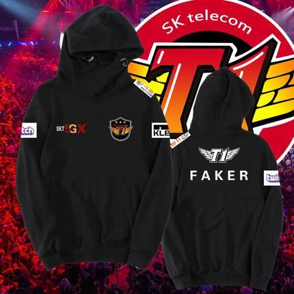 LOL Skt T1 Faker juego equipo uniforme jerseys Hombre Sudaderas holgadas Casual Hoody gran tamaño hombres impreso Streetwear abrigo