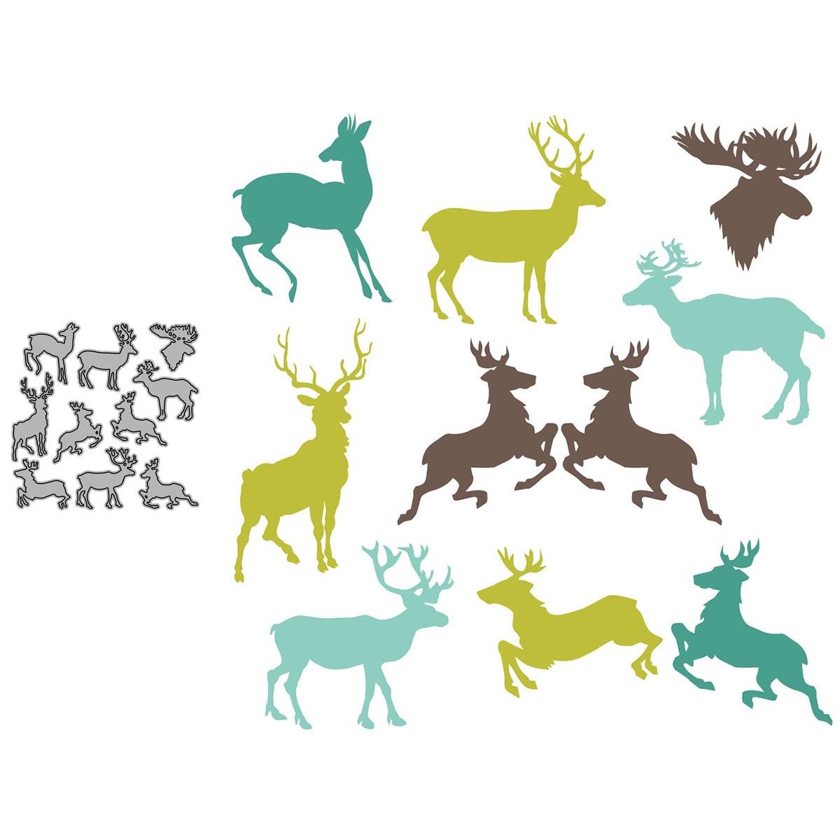 Noel geyik şekli seti kağıt kesim Metal zanaat ölür kart yapımı şablonlar Diy manuel Scrapbooking yeni kabartma ölür 2021
