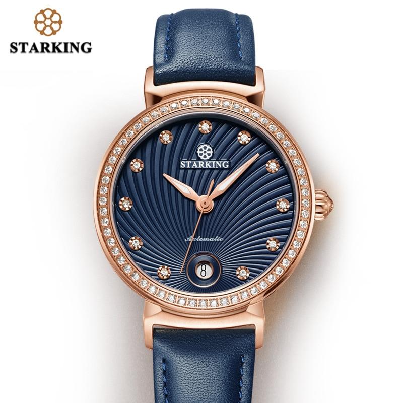 STARKING Latest Fashion Lady Watch For Woman 2019 Auto Date Luxury Mechanical Watch Women Retro Vintage WristWatch Classic Clock enlarge