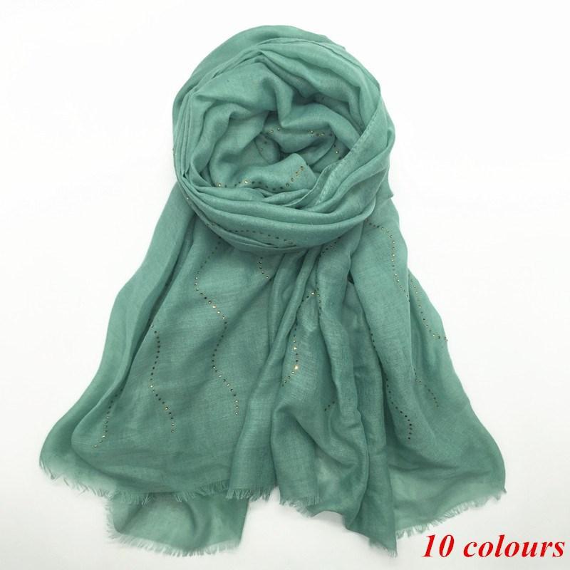 2020 primavera lantejoulas cachecol hijab visecose broca quente curto fringer barbudo cachecol muçulmano xale cachecol