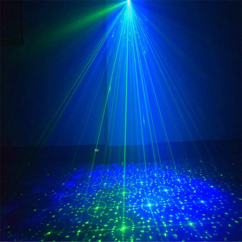 USB аккумулятор RGB DJ дискотека сцена лазер свет звук активированный светодиод проектор вечеринка свет горячий