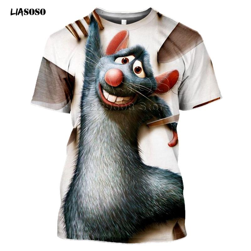LIASOSO, nueva película de ratouille Tees, impresión 3D, camiseta/sudadera Unisex, ropa de calle Harajuku, divertidas camisetas, sudaderas con capucha