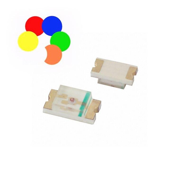 100 unids/lote 1206 led de la gama completa de Alta Luz SMD LED diodo emisor de luz/blanco/amarillo/azul/ verde/naranja/rojo S530-A3 subc/TR8