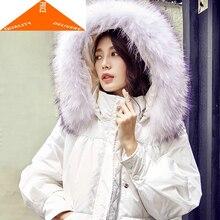 Parka 20% hiver blanc canard veste femmes mode coréenne épais chaud fourrure à capuche vers le bas manteau femme LWL9236