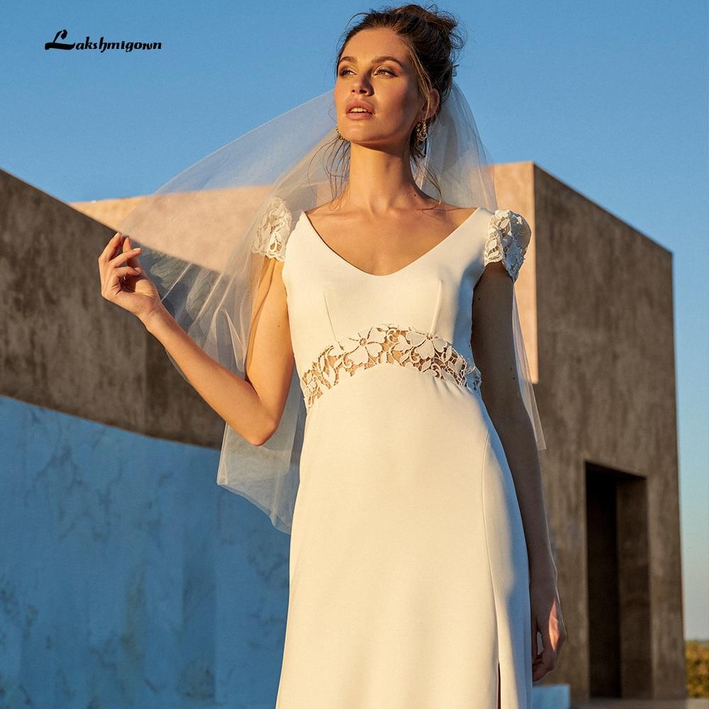 Review Chic Boho Bridal Wedding Dress with Short Sleeves 2022 Off White A Line Country Wedding Dresses Vestidos de Boda