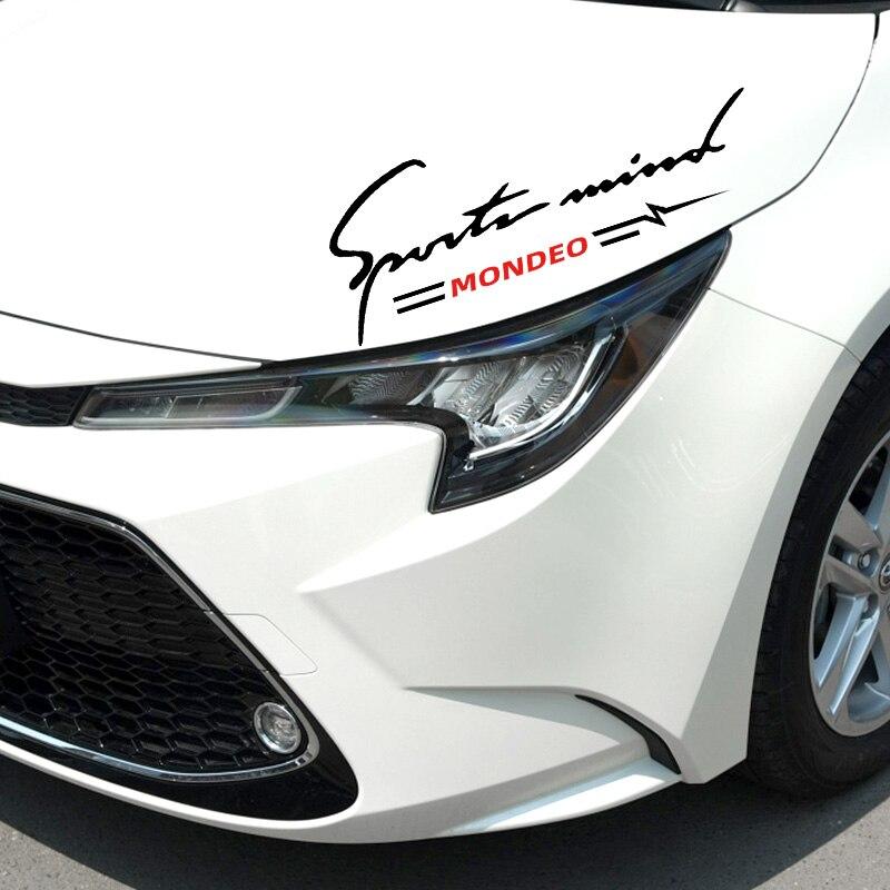 Светоотражающая Виниловая наклейка для автомобилей и гонок, Стайлинг автомобиля для Ford mondeo 2005 2010-2019, автомобильные декоративные наклейки, а...