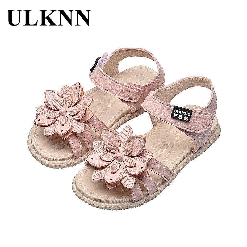 ULKNN Girls Sandals Summer Hot Children Rain Shoes Big Girls Beach Sandal Kids Shoes PVC Sandal Chea