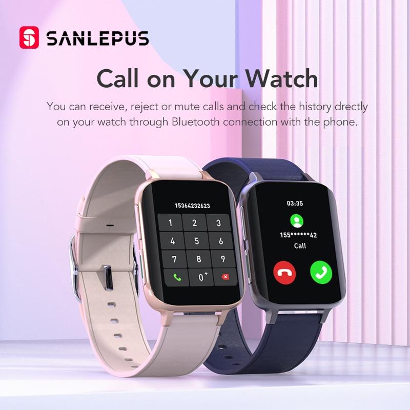 SANLEPUS 2021 NEW Bluetooth Calls Smart Watch Men Women Waterproof Smartwatch MP3 Player Watches For OPPO Android Apple Xiaomi