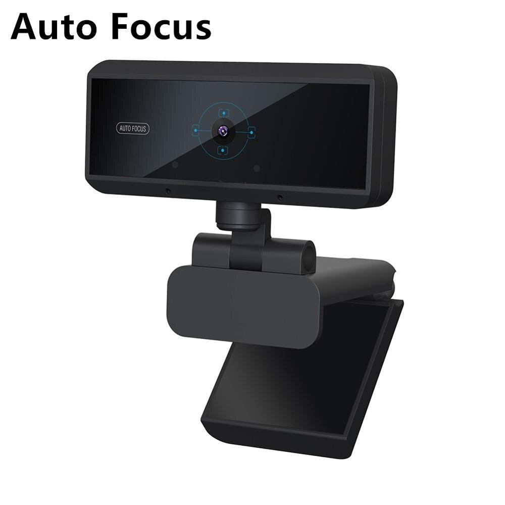Full HD 1080P Auto Focus Webcam Digital Webcam 5 megapíxeles Webcam Web USB para ordenador con micrófono para videollamada