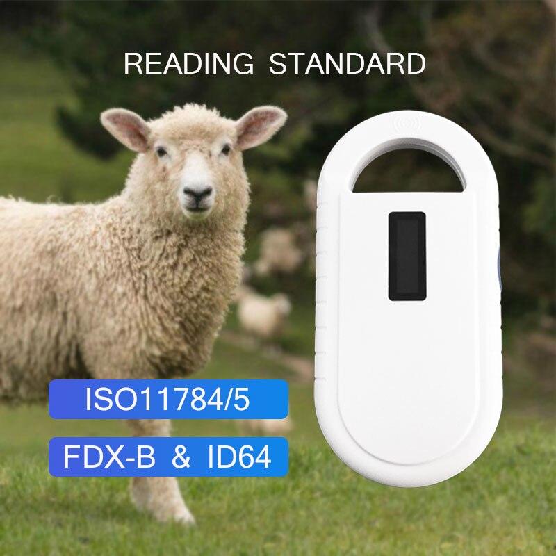 pet scanner ISO11784/5 FDX-B Animal pet id reader chip transponder USB RFID handheld microchip scanner for dog,cats,horse,fish enlarge