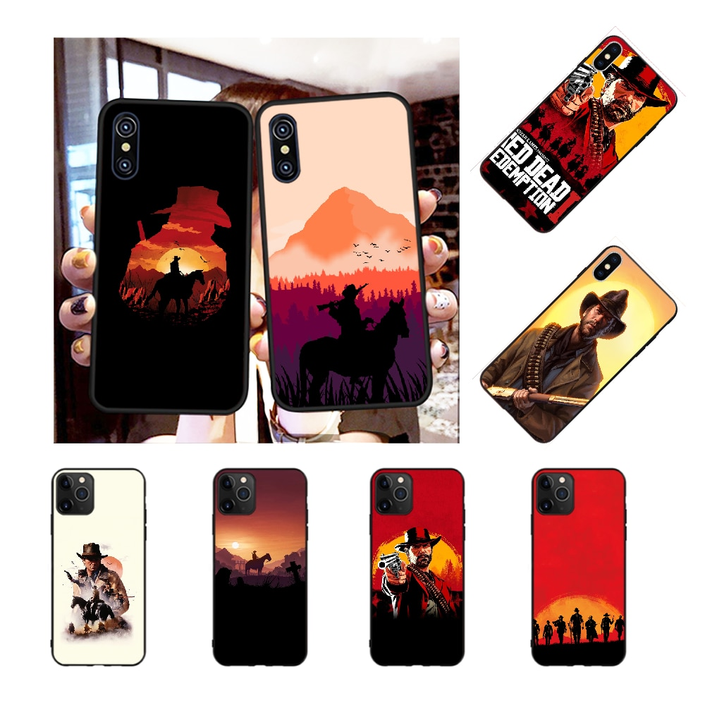NBDRUICAI Red Dead Tempered Newly Arrived Black Cell Phone Case for iPhone 11 pro XS MAX 8 7 6 6S Plus X 5S SE XR case