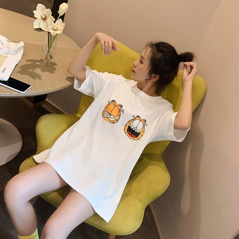 Pikachu dos desenhos animados imprimir camiseta feminina 2020 verão manga curta estilo preppy tshirt casual algodão superior plus size menina estudante t