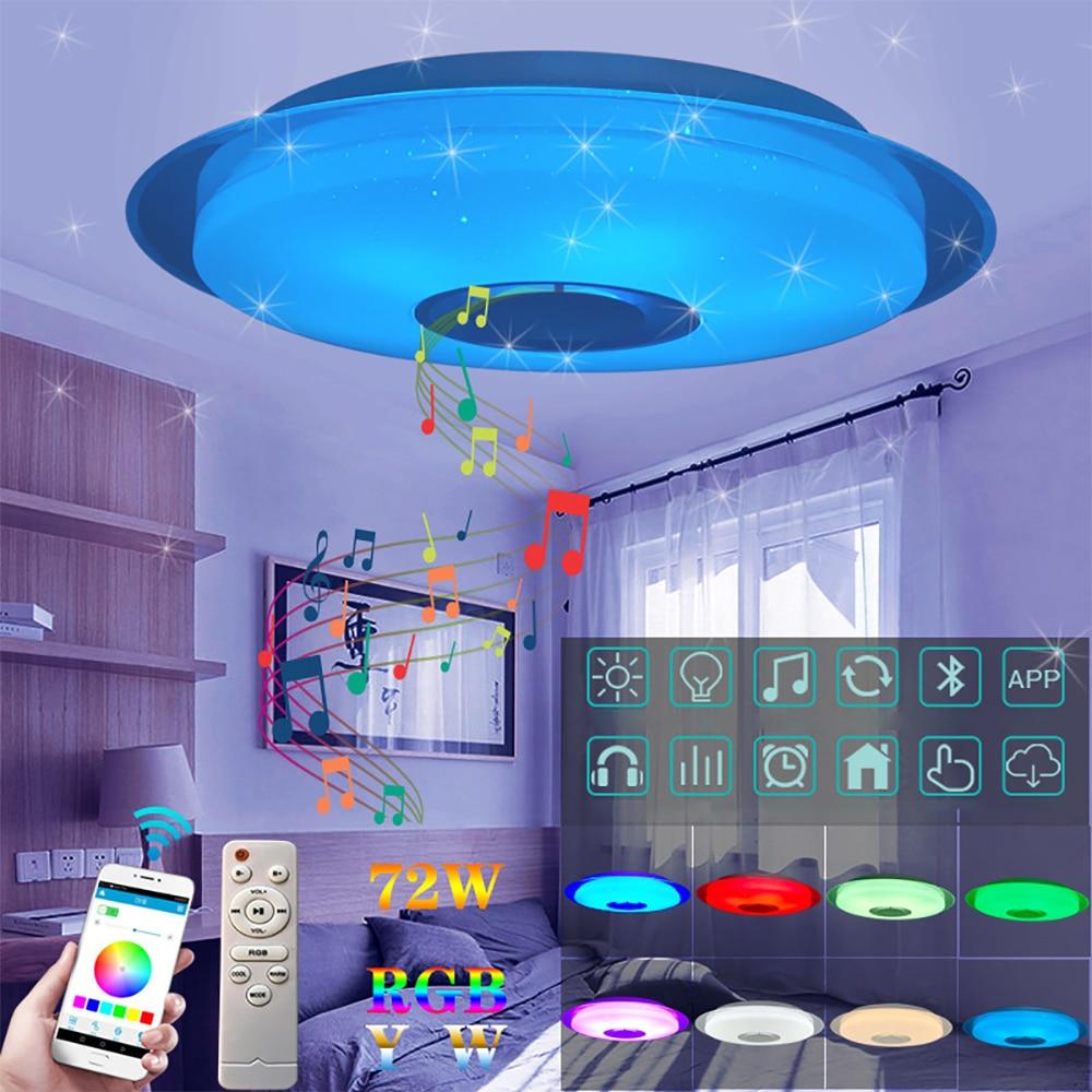 Luces de techo LED modernas iluminación del hogar 36W 72W APP Bluetooth música luz dormitorio lámparas lámpara de techo inteligente