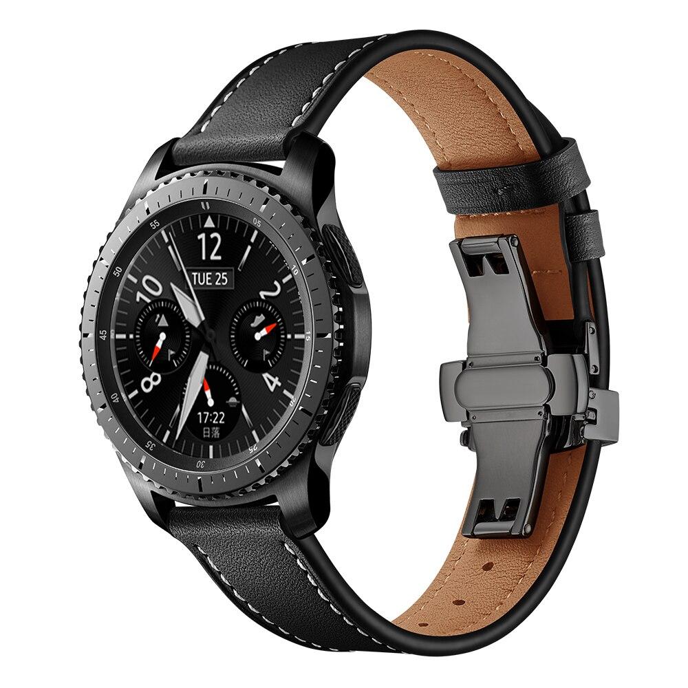 Italy Leather Strap for Samsung Galaxy Watch 3 45mm/46mm Gear S3 Frontier Belt Bracelet Huawei Gt-2-2e-Pro 46 Mm 22mm Watch Band