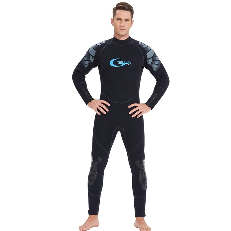 5MM Neoprene WetSuit Scuba Diving Suit Surfing Spearfishing One-Piece and Close Body Snorkeling Prevent Jellyfish SwimSuit