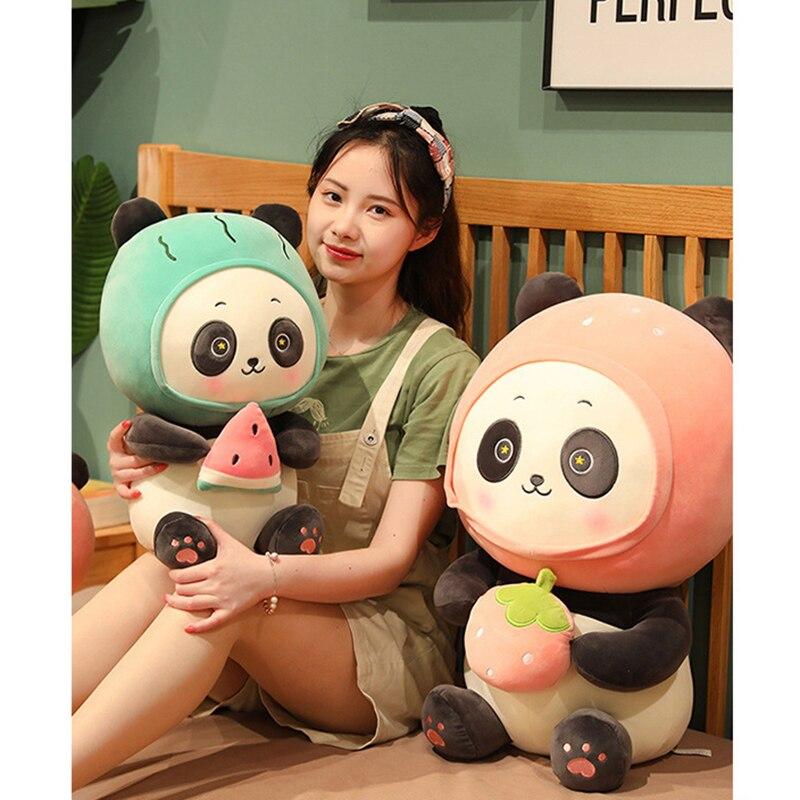 أفخم محشوة الحيوان الباندا الدب الصغيرة ألعاب من نسيج مخملي دمية للطفل الأطفال فتاة بوي دمية دمية وسادة على السرير الباندا دمية