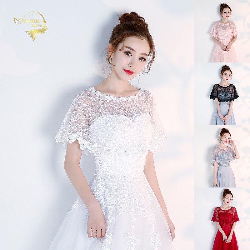 Chal corto nupcial de encaje de alta calidad para boda, encaje de verano para mujer, capas de fiesta de noche, accesorios de boda, chaqueta nueva para mujer