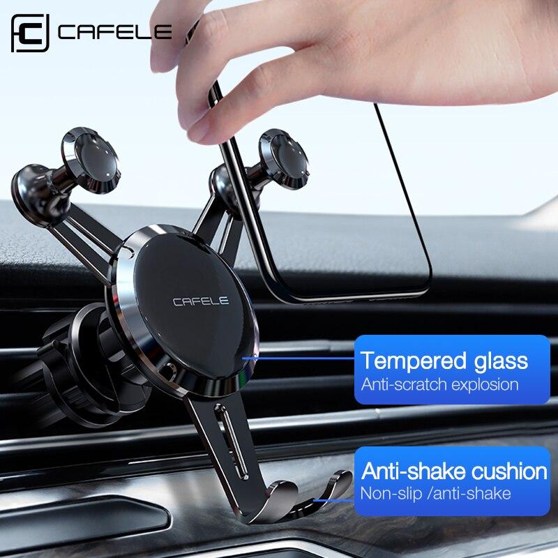 Soporte de teléfono CAFELE para rejilla de ventilación, soporte Universal para teléfono móvil en coche, soporte para iPhone 11 Pro Max de 4-7 pulgadas