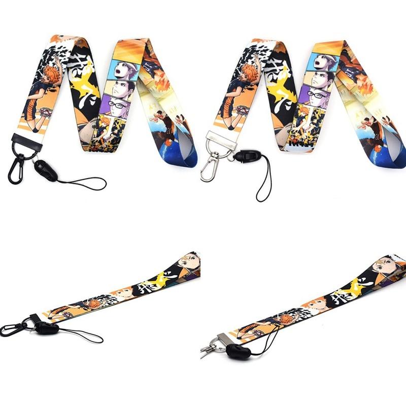 Haikyuu Lanyard Car Key Hang Rope ID Card Badge Holders Mobile Phone Customizable Neck Straps OSS11369 45/23cm