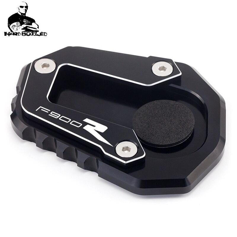 F900 r/rx motocicleta recém chegados cnc kickstand suporte lateral vergroter plaat extensão almofada para bmw f900r f900xr 2020 f 900xr 900r