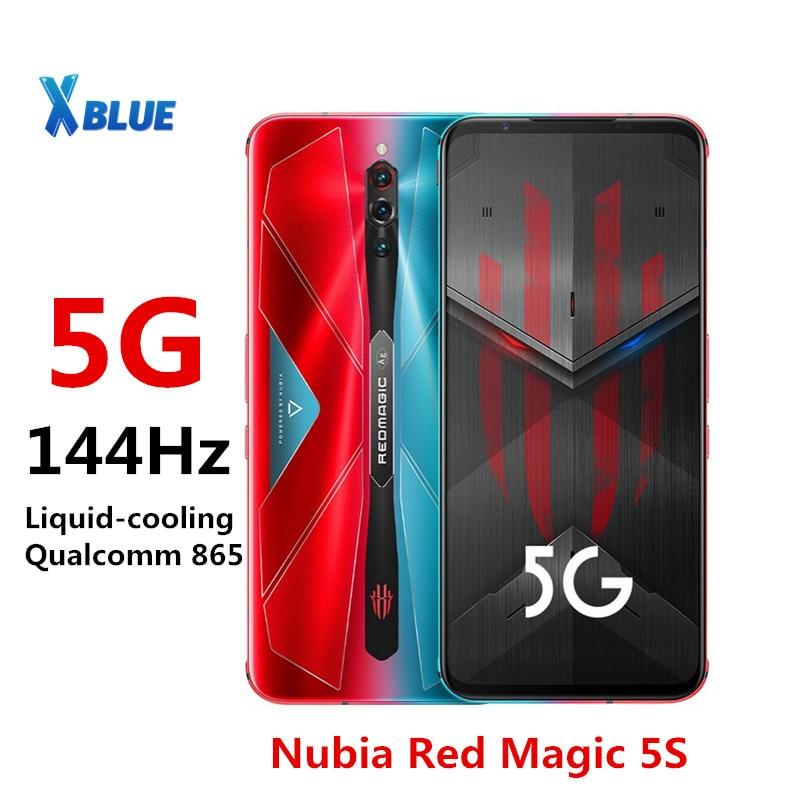 Перейти на Алиэкспресс и купить Смартфон глобальная версия Nubia Red magic 5S, экран 144 Гц, частота обновления 6,65 дюйма AMOLED, Snapdragon 865, 8 ГБ, 128 ГБ