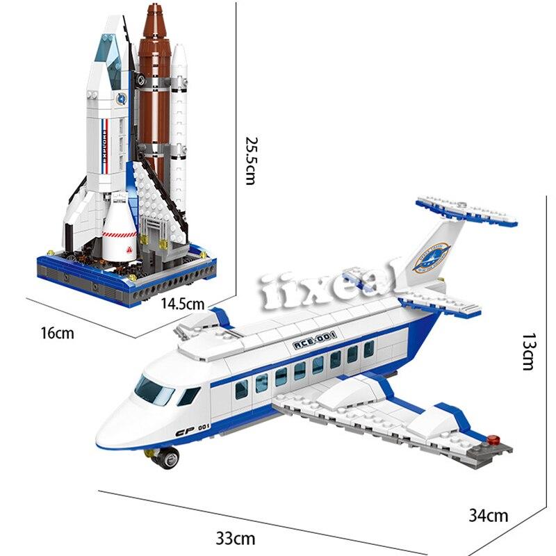 XINGBAO, modelo de ciudad de exploración espacial, Kits de construcción de bloques compatibles con Lego, Avión de lanzadera, ladrillos de arquitectura para niños, juguetes