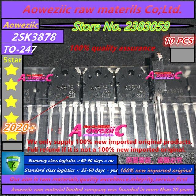 Aoweziic 2020 + 100 новый импортный оригинальный K3878 2SK3878 TO 247 N Channel MOS тип импульсный регулятор приложения 9A 900V
