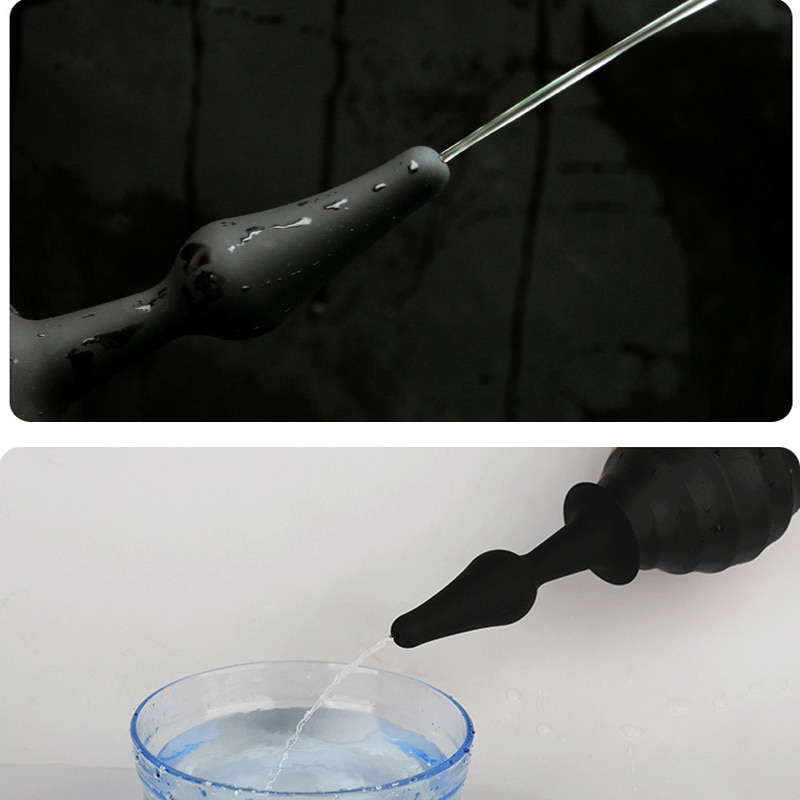 Boquilla de Ducha Enema de silicona para asno Ducha Rectal Anal Ducha Bidet Ducha limpiador Anal Enema Ducha Anal limpieza