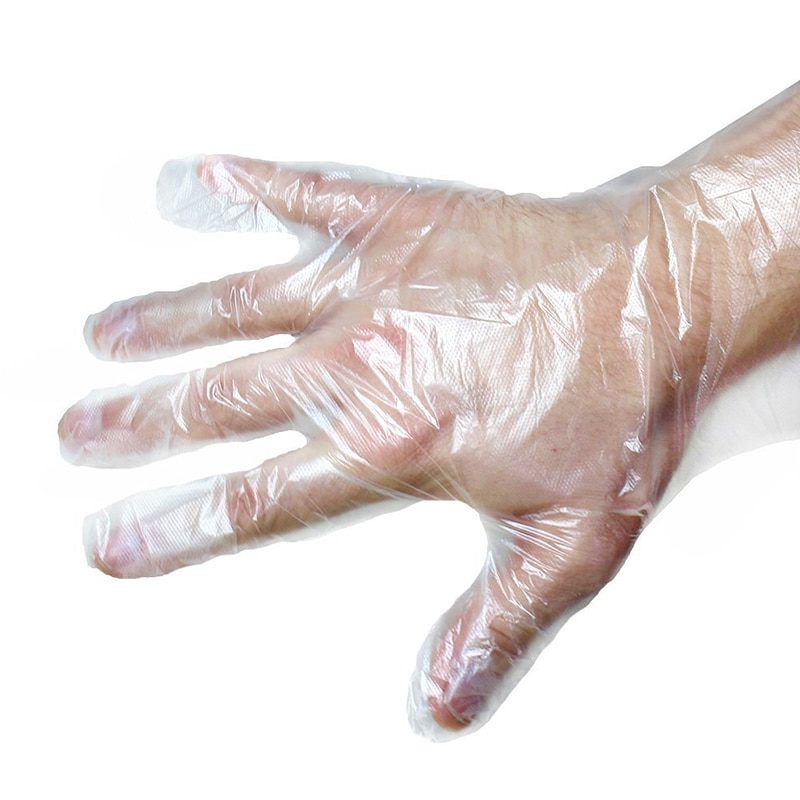 100PCS Food Plastic Gloves Disposable Gloves for Restaurant Kitchen Eco-friendly Food Gloves Fruit Vegetable Gloves