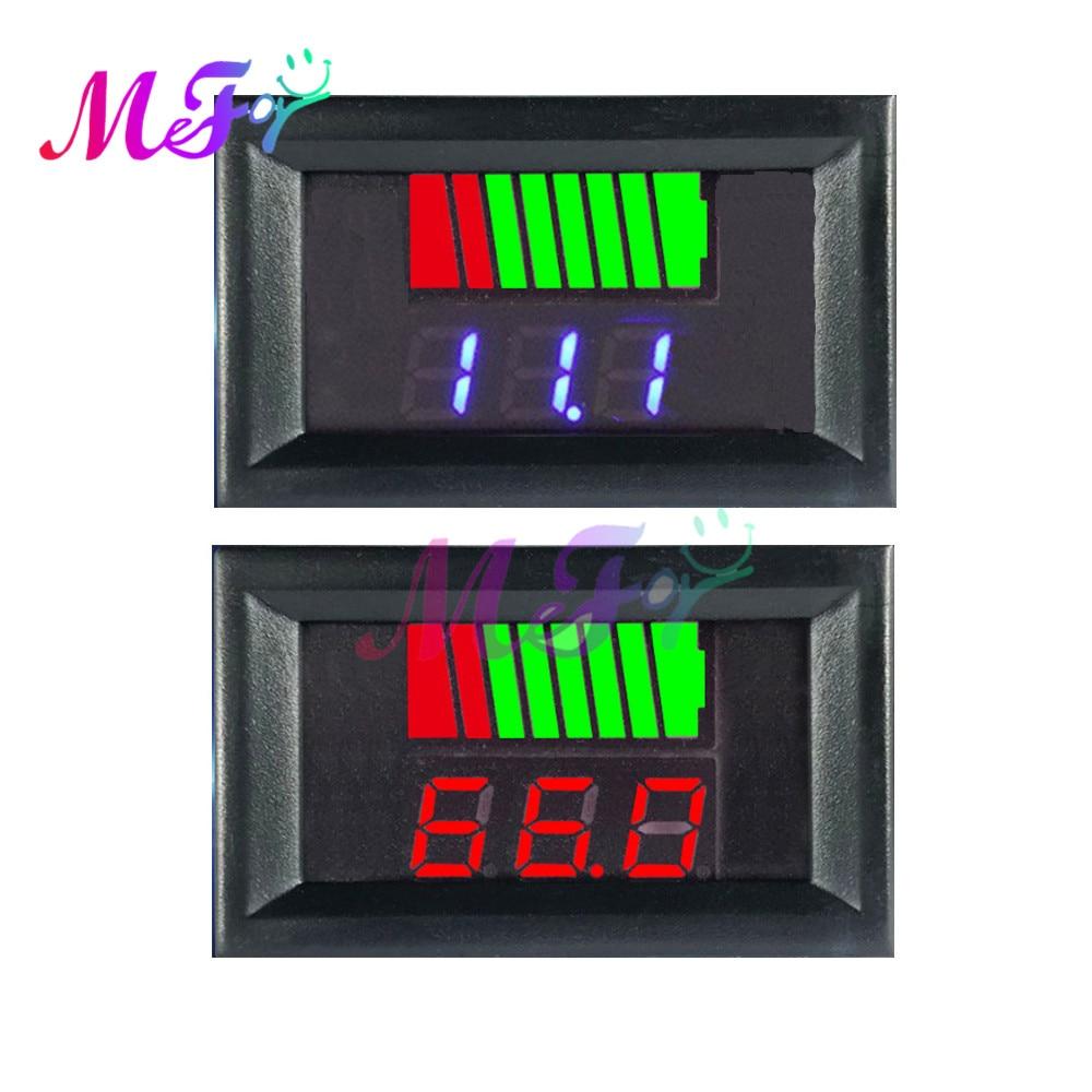 Индикатор уровня заряда автомобильной батареи, светодиодный тестер на литиевый измеритель емкости аккумулятора, 12 В, 24 В, 36 В, 48 В, 60 в, 72 в