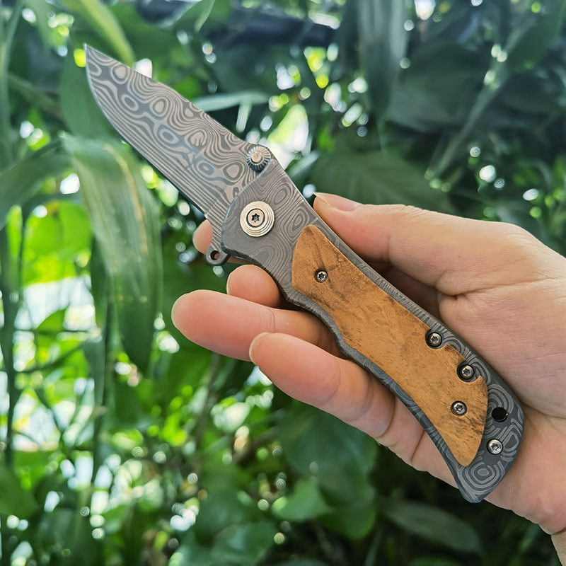 Damascus Folding Knife Outdoor Knives Portable Camping Damascus Pocket Knife 339 Folding Knife Fruit Knife Tactical knife pocket knife knives folding knife hunting knife tactical knife karambit knife damascus knife self defense weapons survival knife